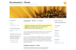 Thesis Neoclassical Themes