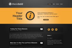 Thesis bold skin free