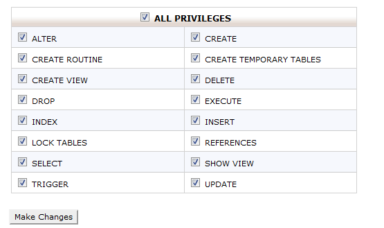Wordpress previlages settings