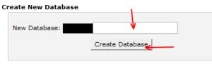 cPanel installation sql database