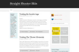 straightshooter thesisthemes free