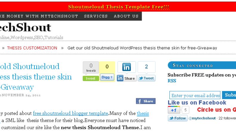 Shoutmeloud-thesis-skin- download
