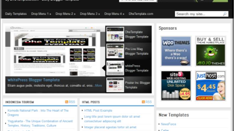 Blogger templates,media online template