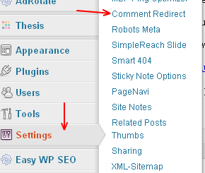 comment redirect,redirect plugin