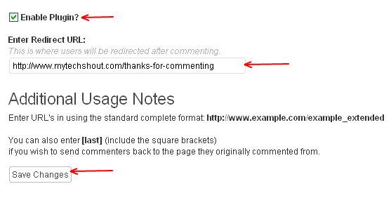 Comment redirect to any page or post-WordPress plugins