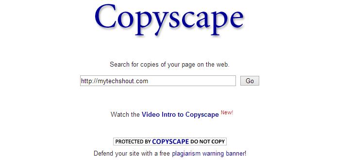 Copyscape Duplicate Content Checker