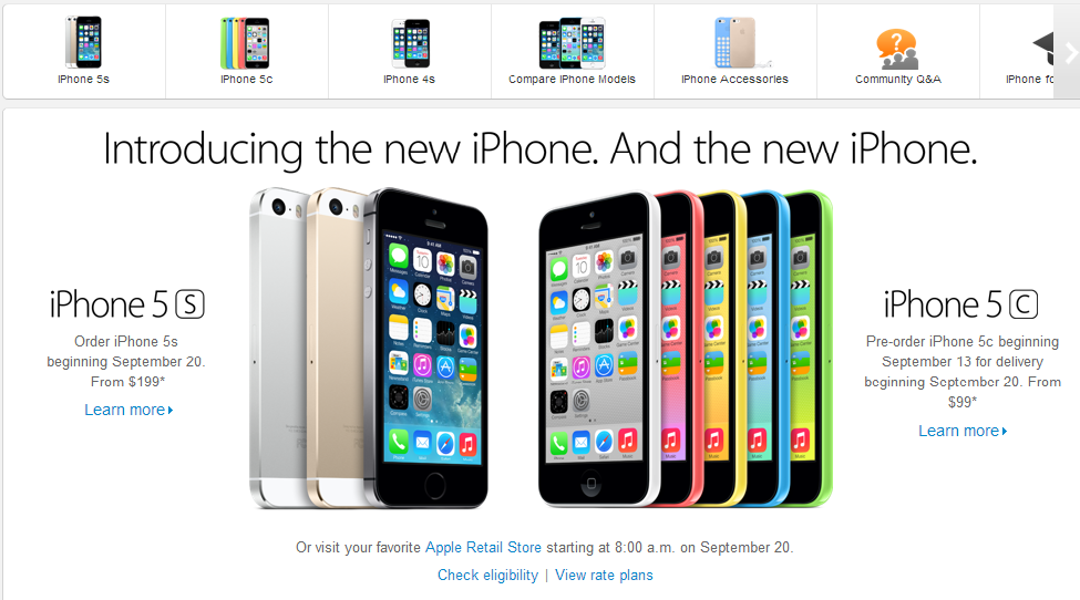 Iphone 5s and Iphone 5c announced and release date