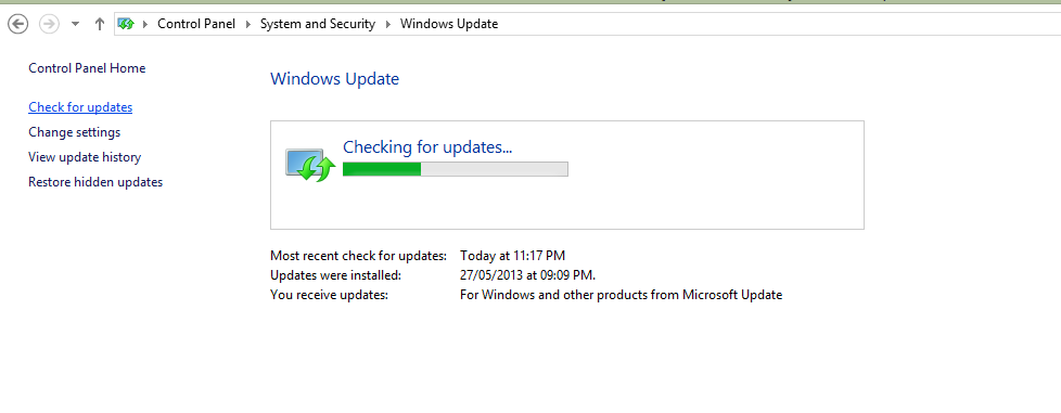 Check for windows updates.
