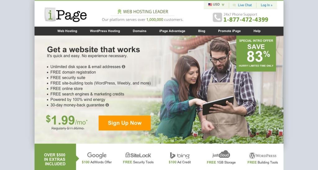 Ipage hosting giveaway