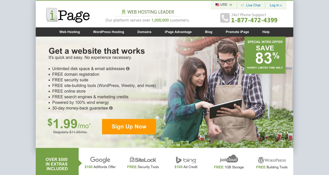 2 Years iPage Web Hosting Giveaway !