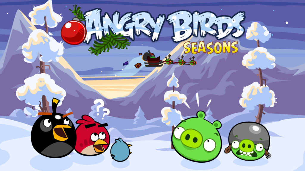 HD angry bird season wallpaper