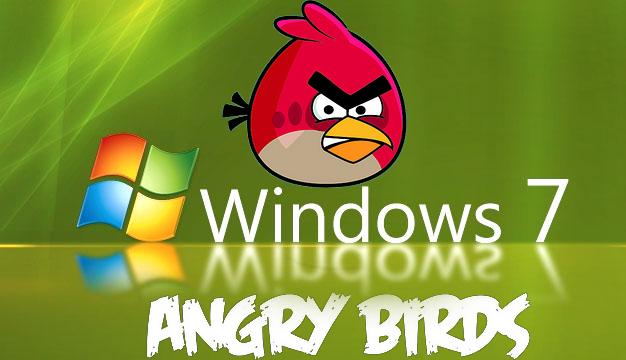 angry birds HD wallpaper window 7