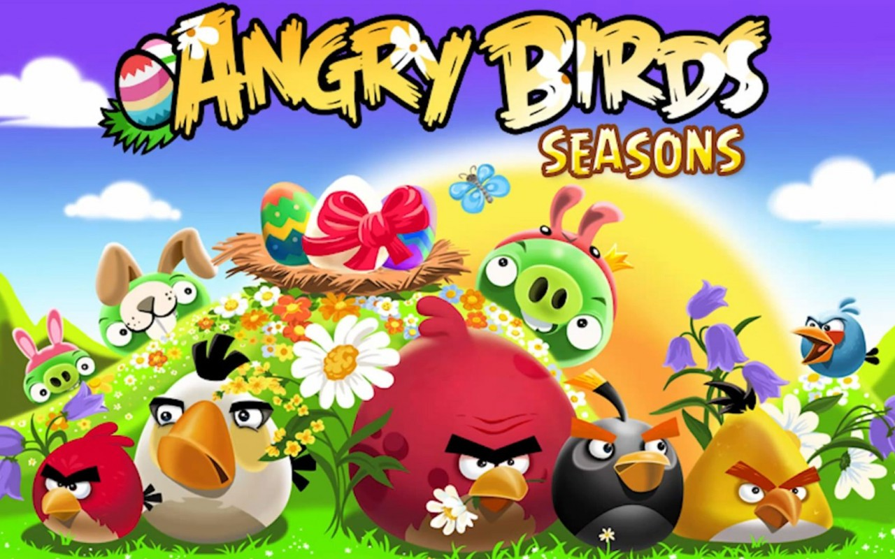 Angry birds game HD wallpaper