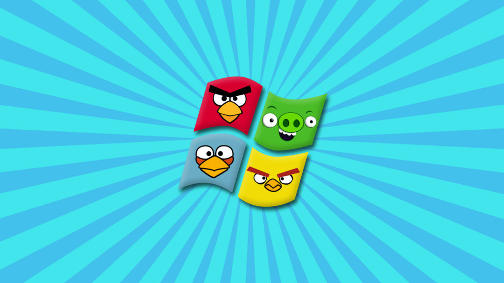 windows 7 angry birds HD wallpaper