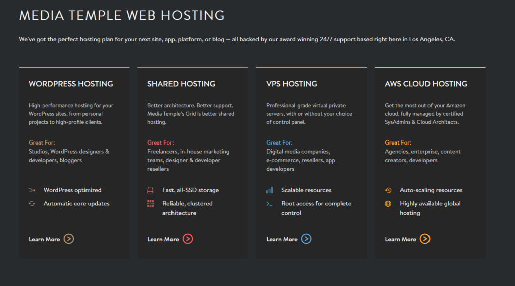 Media Temple Web Hosting Plans