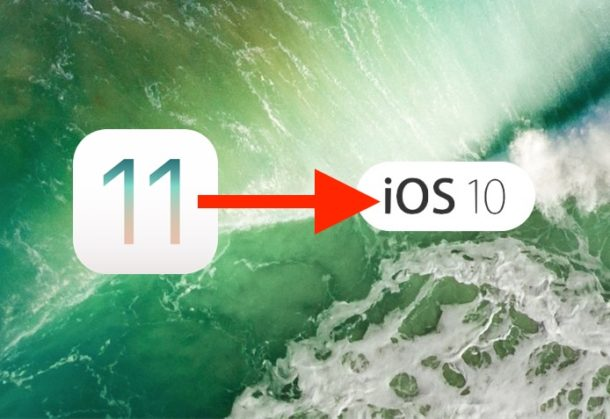 How to Downgrade from iOS 11 Beta to iOS 10